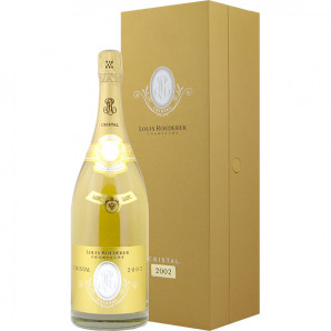 01128 Cristal Louis Roederer 2002 Magnum Giftbox Lare Release Flaske og kasse