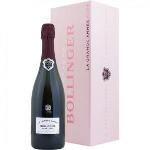 01910 Bollinger La Grande Année 2002 Rosé Flaske og kasse