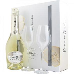 02931 Perrier-Jouët Grand Blanc de Blancs og 2 glas