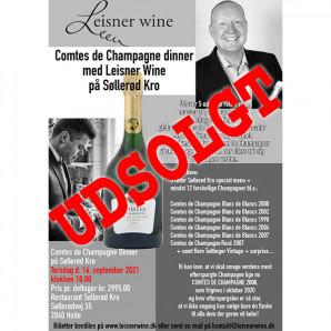 80041-1 Comtes de Champagne dinner på Søllerød Kro 16 september 2021 Udsolgt
