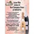 80021 Rosé Champagne på Søllerød Kro 2022 Nyt nyt design Cristal og Krug