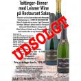 80053-1 Invitation til Taittinger Dinner på Salon 15 september 2021