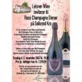 80056 Invitation til Rosé champagne dinner 3 november 2022 Dom P og Comtes med Udsolgt