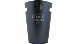 Charles Heidsieck Champagne køler, gråblå i aluminium med logo