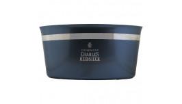 Charles Heidsieck Champagne køler, stor gråblå i aluminium med logo